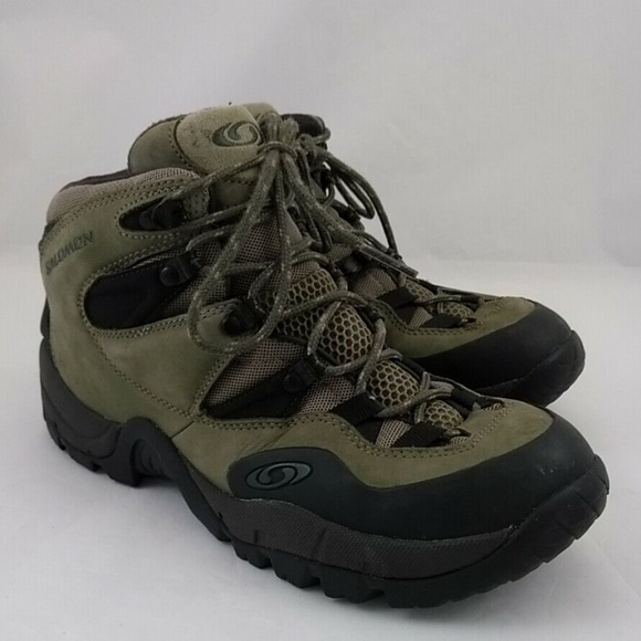 fff0b4c7066 Salomon Mens 8 Hi Top Hiker Hiking Shoes Boots Lac